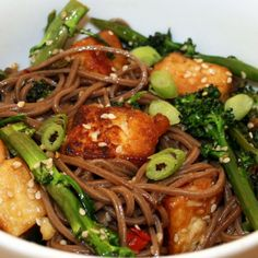 Chili and Ginger Tofu with Purple Sprouting Broccoli Recipe: Cook Vegetarian Magazine
