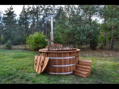 Wood Burning Hot Tub Deluxe thermo wood Model - TimberIN