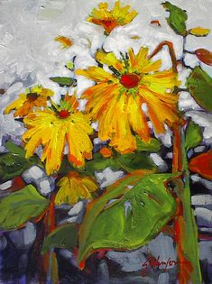 A collection of paintings by Canadian Artist Gail Johnson who's work is featured at the mountain galleries at the fairmont. Totems, Gouache Painting, Oil Paintings, Flower Paintings, Painting Abstract, Painting Tips, Painting Techniques, Landscape Paintings, Sunflower Canvas
