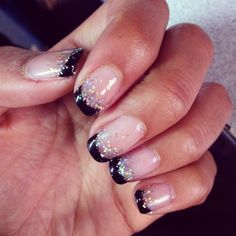 Sparkling french nails
