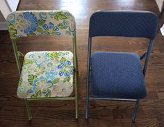 new look for old folding chairs