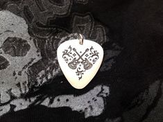 Your place to buy and sell all things handmade Guitar Pick Jewelry, Guitar Pick Necklace, Handmade Accessories, Handmade Jewelry, Personalised Gifts Handmade, Custom Guitar Picks, Hand Engraving, Gifts For Girls, Handmade Silver