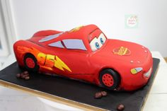 Rayo McQueen Cake paso a paso| Natalia Salazar - Disney Cars Party, Disney Cars Birthday, Lighting Mcqueen Cake, Cute Cakes, Mc Queen, Projects, Car Cakes, Cakes With Fondant, Chocolate Cookies
