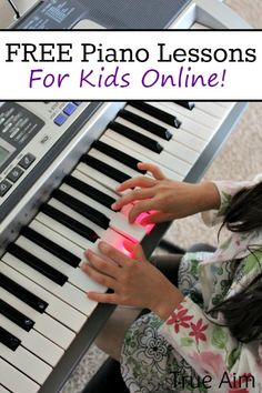 Free piano lessons online - Kids can learn to play piano on their own with these free videos. Great Music Activities too!