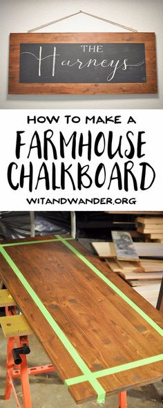 41 More DIY Farmhouse Style Decor Ideas - DIY Rustic Farmhouse Chalkboard - Creative Rustic Ideas for Cool Furniture, Paint Colors, Farm House Decoration for Living Room, Kitchen and Bedroom http://diyjoy.com/diy-farmhouse-decor-projects