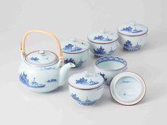 Tokyo Matcha Selection - [Premium] Hasami Porcelain : Korin Landscape - Kyusu Tea pot