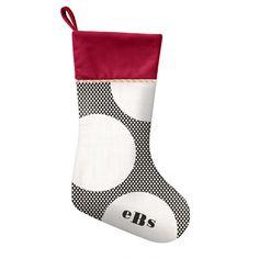 Winter Spotlight - Christmas Stockings in Black or Jewel Tiny Prints, Unique Invitations, Custom Cards, Spotlight, Christmas Stockings, Stationery, Stylish, Holiday Decor, Winter