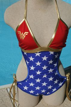 Hey, I found this really awesome Etsy listing at https://www.etsy.com/listing/161881973/wonder-woman-inspired-monokini