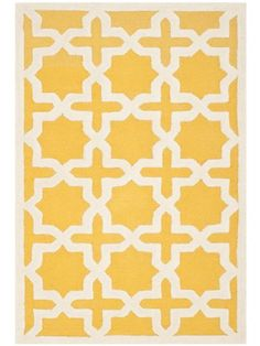 Safavieh CAM125Q Cambridge Collection Handmade Wool Area Rug, 9-Feet by 12-Feet, Gold and Ivory