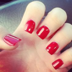 I NEVER wear red nail polish but this is so cute!