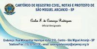CARTÓRIO DE REGISTRO CIVIL - NOTAS E PROTESTO DE SÃO MIGUEL ARCANJO - SP