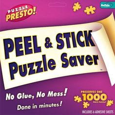 How To Save Or Frame a Jigsaw Puzzle Without Using Messy Glues