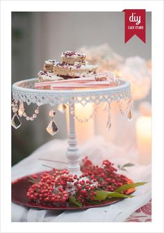 DIY Cake Stand, sadly not the one in the picture, but i have an idea how to kinda recreate it!!!!!