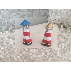 Mini Lighthouses with kisses