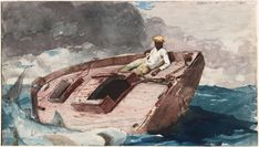 Winslow Homer The Gulf Stream 1899 Vintage Watercolor Print Cleveland Museum Of Art, Art Institute Of Chicago, Toledo Museum Of Art, Art Museum, National Gallery Of Art, Art Gallery, Winslow Homer, Memorial Museum, City Art