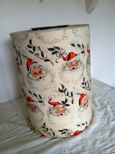 WOW Vintage 1950s Santa wrapping paper 30 yards old by jtjujubees, $150.00