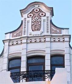 Detail on a building in Alesund, Norway - Architects: Michalsen & Dahl, 1905.