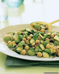 {lemony zucchini, chickpea + lima bean salad} great for a summer cookout or even as a light lunch!