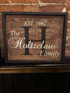 """Size - 14"""" x 17"""" Family Signs, Chalkboard Quotes, Art Quotes, Size 14, Initials, Names, Design"""
