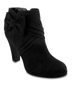 Another great find on #zulily! Black Bow Bootie #zulilyfinds