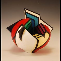 Terry Habeger, Artist - Acrylic Paint on Clay and Canvas - Acrylic on Clay Form #2067