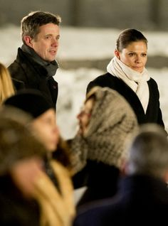 Crown Princess Victoria and Crown Prince  Frederik on the 70th anniversary of the liberation of Auschwitz in Poland. 27/01/2015