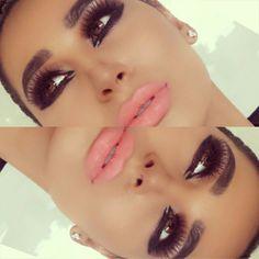 #ShareIG Wearing My favorite lashes by @eldorafalseeyelashes 178  Candy girl lipstick by @Coloured Raine Cosmetics