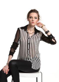 SATEEN Çizgili garnili gömlek Markafoni'de 59,90 TL yerine 29,99 TL! Satın almak için: http://www.markafoni.com/product/3459233/