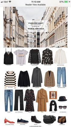 What-to-Pack-for-Paris-France-Packing-Light-List.png pixels What-to-Pack-for-Paris-France-Packing-Light-List. Travel Wardrobe, Capsule Wardrobe, Casual Outfits, Fashion Outfits, Womens Fashion, Paris Packing, Paris Travel, Fall Packing, Paris In Spring