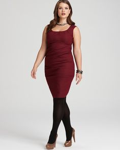 Eileen Fisher Plus Size Sleeveless Stretch Cotton Steel Dress with Ruching  ORIG $338.00  SALE $169.00