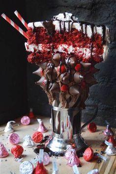 Red Velvet Milkshake created by Black Tap NYC.  This looks sooo delish.