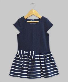 Love this Navy Stripe Serenity Dress - Infant, Toddler & Girls on #zulily! #zulilyfinds