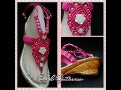 Sandalias de Macrame nuevos modelos y colores - YouTube Flip Flops, Beads, Handmade, Crafts, Shoes, Design, Fashion, Decorated Flip Flops, Necklaces