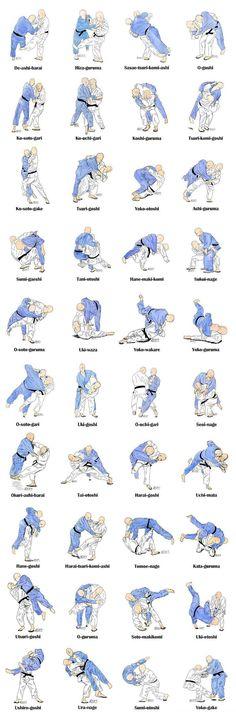 judo techniques - 40 técnicas do Gokyo Kodokan (não estão na ordem das 5 séries)