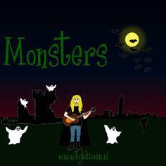 Griezelliedje van Tijl Damen over Monsters. Halloween! Tekst en akkoorden: http://tijldamen.nl/kinderliedjes/griezelen/monsters