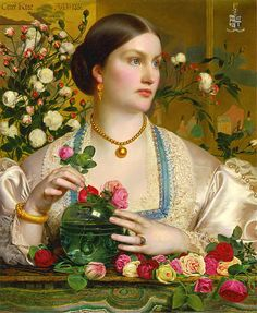 Grace Rose: 1866 by Anthony Frederick Sandys (Yale Center for British Art) - Pre-Raphaelite