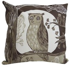 Brown Owl Cushion