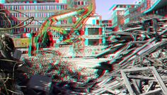 https://flic.kr/p/T4ubRP | Up:Town Rotterdam 3D | anaglyph stereo red/cyan