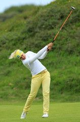 Pernilla Lindberg Ricoh Women's British Open - Round One  Talk about extension