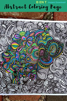 Enjoy the calming, meditative activity, that is adult coloring, as you bring this black and white abstract art world to life. This zentangle art doodle was originally hand drawn by Treana using ink, sharpie and heavy paper. Each pdf is created using a hi-res scan of the original. The ability to print this page  gives you the option of paper weight to print on, depending on choice of media being used to color.