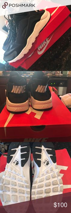 Nike Huaraches Run Ultra Size 10, worn twice. Like new condition with box. Nike Shoes Athletic Shoes
