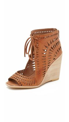 Browse and shop Jeffrey Campbell Rodillo Wedge Sandals in Tan c4c33a1825a