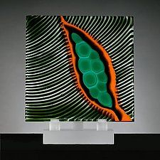 "Origins No. 15 by Rhoda Baer (Art Glass Sculpture) (12"" x 10.25"")"