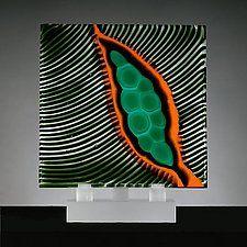 """Origins No. 15 by Rhoda Baer (Art Glass Sculpture) (12"""" x 10.25"""")"""