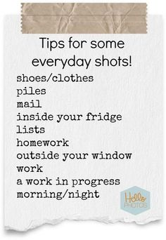 Tips for everyday shots