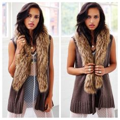 BB Dakota Shawl Collar Vest Very elegant fur collar vest. Vest is very elegant and the stretchy material. It's more like a one size fits all. Tag is S Urban Outfitters Jackets & Coats Vests
