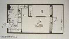 2 rooms with an open kitchenette (40,5m2) / Pikkukaksio avoimella keittiöllä (40,5m2) #pikkukoti #tehoneliöt #kaksio Floor Plans, Diagram, Floor Plan Drawing, House Floor Plans