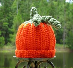 Pumpkin Hat Crochet Baby Boy Hat Fall Hat 3 by CreativeDragonfly, $25.00