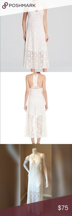 Rebecca Minkoff 4 Falcon Dress cream crochet sexy Rebecca Minkoff 4 Falcon Dress cream crochet sexy. Beautiful embroidered dress perfect for a day at the beach or even a relaxed wedding dress. Sexy deep v cut with detail crochet back. Dress is in great condition measurements will be available soon Rebecca Minkoff Dresses Midi