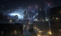 Batman - Arkham Origins: NEWGOTHAM ROOFTOPS by inetgrafx on DeviantArt